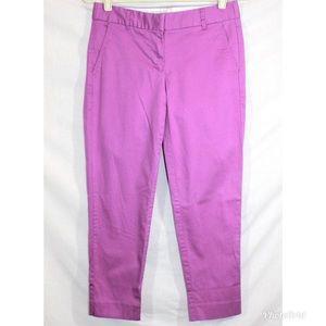 J. Crew Pink/Purple Cropped pants